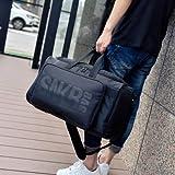 SCNDEWMY 多功能球鞋收纳旅行包 运动健身包 篮球包 大容量行李袋 (黑色字体)