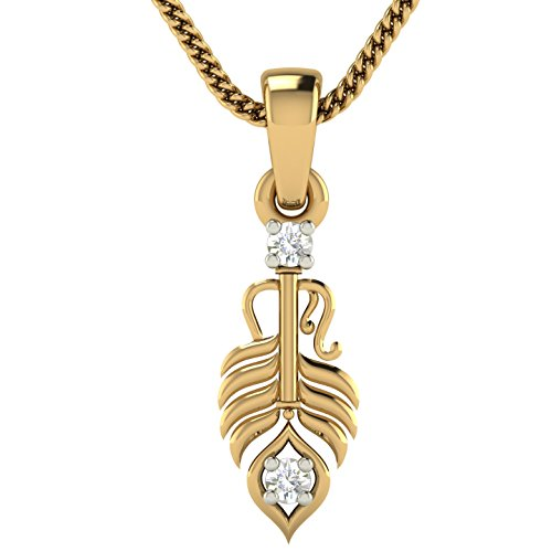 Avsar 18KT Yellow Gold and Diamond Pendant for Women