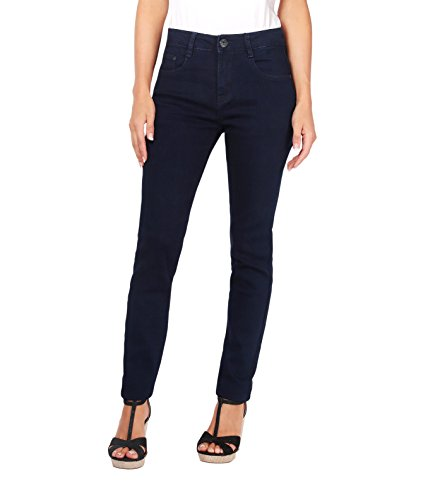 Cigarette Leg Stretch Jeans (KRISP Women High Waisted Slim Stretch Denim Jeans Pants 6-14 (Navy [5326], US 6/UK 10),[5326-NVY-10])