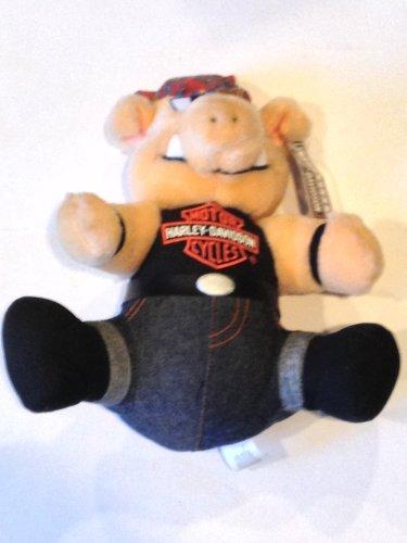 (Harley Davidson Road Hog w/Bandana Stuffed 10