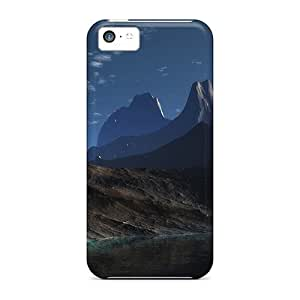 AidwNYm7358IZQZT Tpu Phone Case With Fashionable Look For Iphone 5c - Mountain Lake