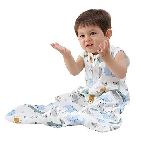 Mosebears Sleep Sack Baby Winter Wearable Blanket with 2-Way Zipper,2.5 TOG Cotton Sleep Sack Unisex