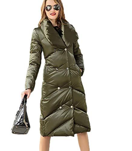 Mantello Grandi Regalo Donna Green Cappotto Lunghe Natale Dimensioni Invernale Con Di Donna M Lungo Acvxz Green Cappotto Piumino colore Maniche Da qg7X7C