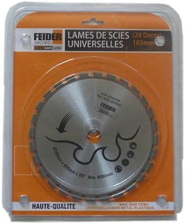 Feider F185LU Disco corte multimaterial, silver, 185 mm