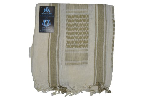 Tactical 365 Operation First Response Military Shemagh Desert Scarf (Sand/Tan) (Shemagh Sand)