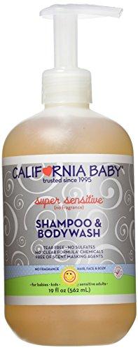California Baby Super Sensitive Shampoo & Body Wash - No Fragrance - 19 - Fragrance Body Sensitive