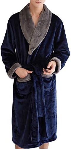 メンズ ナイトガウン バスローブ スタイリッシュ ふかふか フランネル ルームウェア 着る毛布 部屋着 防寒