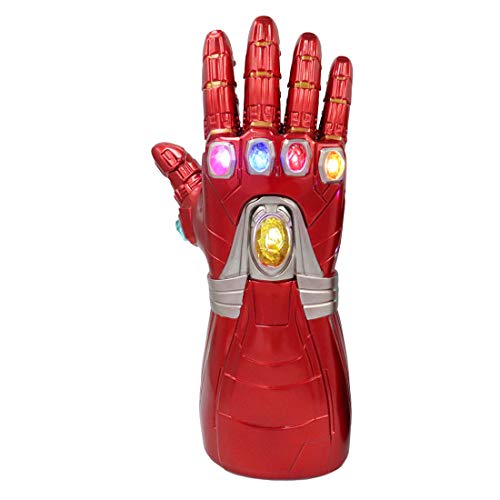 Right Hand Infinity LED Light PVC Gauntlet Thanos Gloves Cosplay Halloween Props for Kids ()