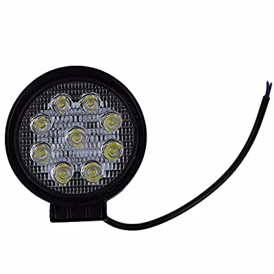 Spain : 27W 12V 24V 10-30V DC Flood Beam Led Bulbs 60 Work Light Lamp Portable Bar Boat Tractor Truck Off-road SUV 2017 Top Sale