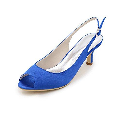 Ocasión Satén más yc Arnés Del Blue Sandalias Colores Las De Talón Vuelta Y Boda Bombas Tacones L Stiletto xRIq4tnUR1