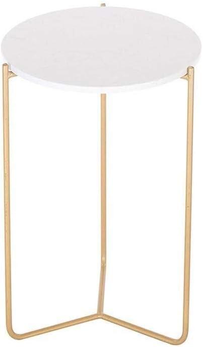 Uitverkoop Bijzettafeltjes Hair kleine ronde salontafel marmer/smeedijzer woonkamer slaapkamer balkon, 40 * 55 cm goud zcnjwwJ