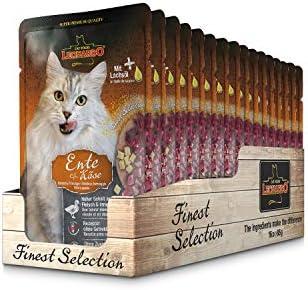 Leonardo Frischebeutel [16x85g Multipack]   Getreidefreies Nassfutter für Katzen   Feuchtfutter Alleinfutter im Einzelportionsbeutel
