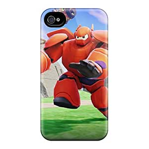 Scratch Resistant Hard Phone Cover For Iphone 4/4s With Unique Design High-definition Big Hero 6 Skin KerryParsons