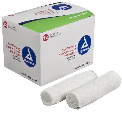 (Dynarex Stretch Gauze Bandage Roll N/S 4