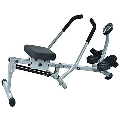 ZJZ Roeien Machineble Handvat Rowing Machine,Huishoudelijke Folding Indoor Rowing Trainer,Stille Kleine Sport Fitness E