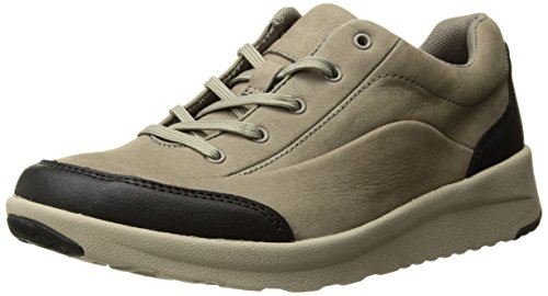 CLARKS Women's Darleigh Cora Sneaker, Sage Nubuck, 9 M (Clarks Walking Shoes)