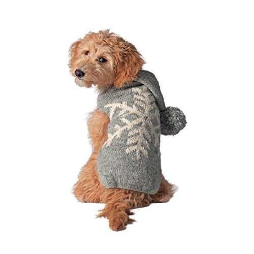 (Chilly Dog Alpaca Snowflake Sweater for Dogs, X-Large, Grey)