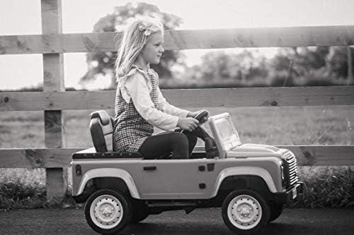 Land Rover KAP231 Pedal Defender Ride on Vehículo, Azul