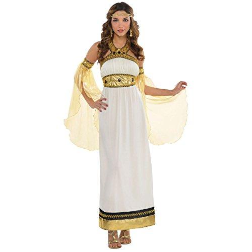 amscan Adult Divine Goddess Costume - Large (10-12), Black -