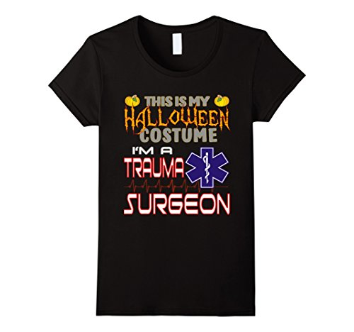 Hard Lady Costume Working (Womens Trauma Surgeon Halloween Costume Shirt XL)