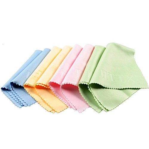 HTTX Microfiber Cleaning Cloths - For All LCD Screens, Tablets, Lenses, and Other Delicate Surfaces (8-Pack, 6x7