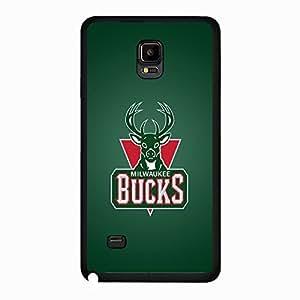 Samsung Galaxy Note 4 case Genuine Milwaukee Bucks NBA Basketball Team Logo Sports for Men Design Hard Phone Accessories Protective Case Cover for Samsung Galaxy Note 4