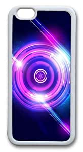 Abstract Lights Custom iPhone 6 Case Cover pc hard White