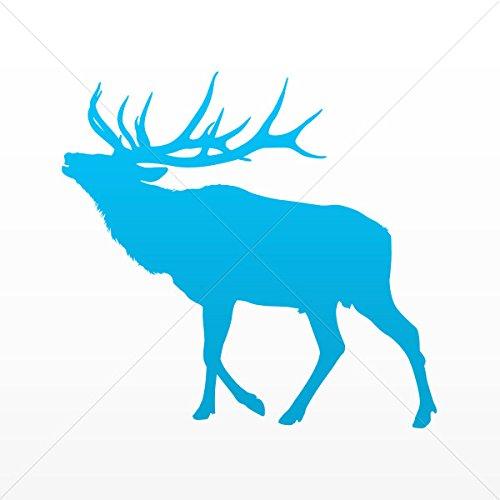 Sticker Male Deer Figure Decorative Motorbike Bicycle Vehicle ATV Raci Blue (8 X 7.60 In)