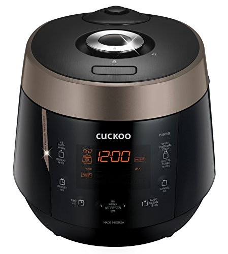 Cuckoo CRP-P0609S 6 Cup Electric Pressure Rice Cooker, 120V, Black