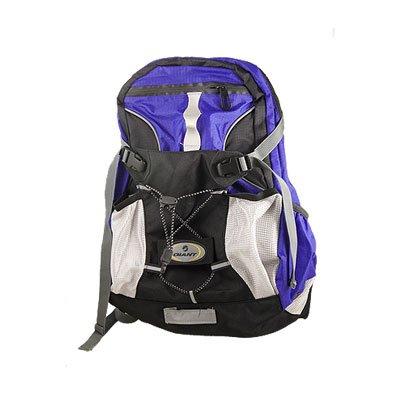 バイク旅行バックメタルフレームZipファブリックバックパックBLKブルー B007SV1L3Y
