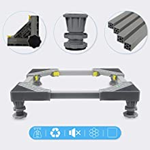 Mini Fridge Stand Washing Machine Base Multi-functional Adjustable Base washer and dryer stand appliance refrigerator pedestal stand, 4 Stong Feet