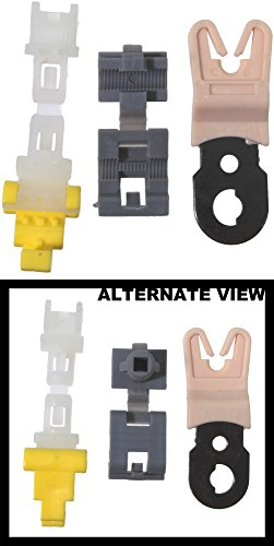 APDTY 86584 Door Lock Actuator Rod Plastic/Metal Retainer Clips Quanity 3 Fits Select GM & Ford Vehicles; Match your Vehicle To Compatability Chart To Ensure Exact Vehicle Fitment -