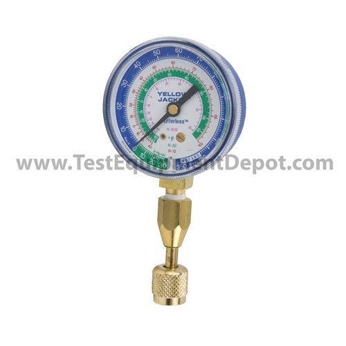 Yellow Jacket 40332 Blue Compound Gauge with 19110 Quick Coupler