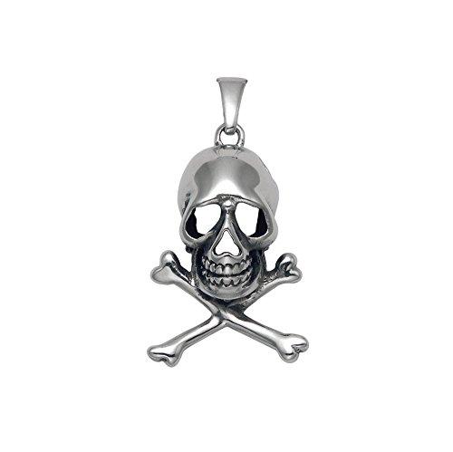 Stainless Steel Skull & Crossbones Pendant