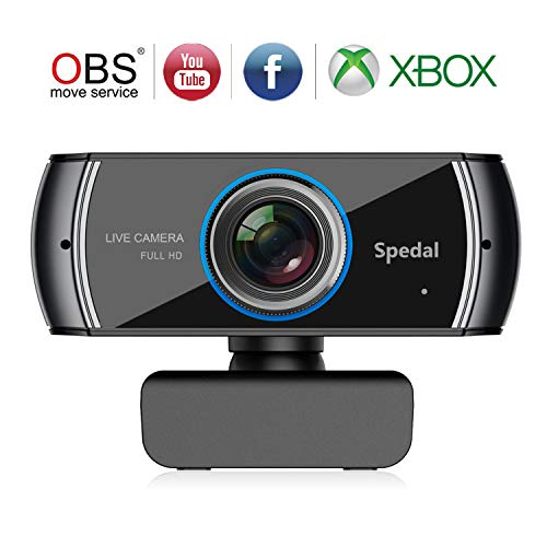 Spedal Full HD Webcam 1536p, Beauty Live Streaming Webcam, Computer Laptop Camera for OBS Xbox XSplit Skype Facebook, Compatible for Mac OS Windows 10/8/7 (Automatic Call Recorder For Android 4-1 2)