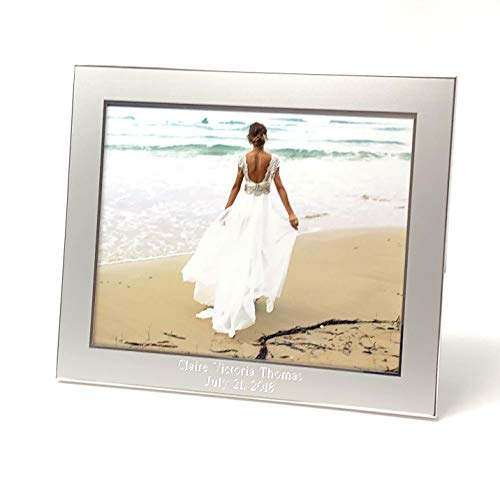 Newfavors Personalized 8x10 Horizontal Photo Frame with - Free Custom Text Engraving