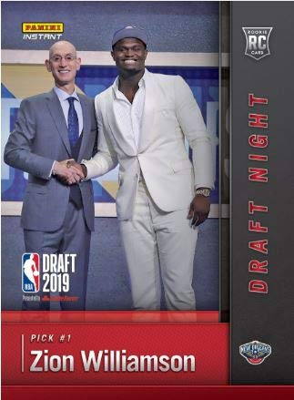 - ZION WILLIAMSON 2019 Rookie (RC) in screwdown holder -1st licensed official card - Draft Night - New Orleans Pelicans - Panini Instant + get a 1 in 1000 chance to win a ZION Certified Autograph card