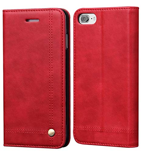 iPhone 8 Case iphone 7 Case, SINIANL Leather Wallet Case Magnetic Closure With Kikstand & Card Slot Flip Cover (Best Iphone Folio Case)
