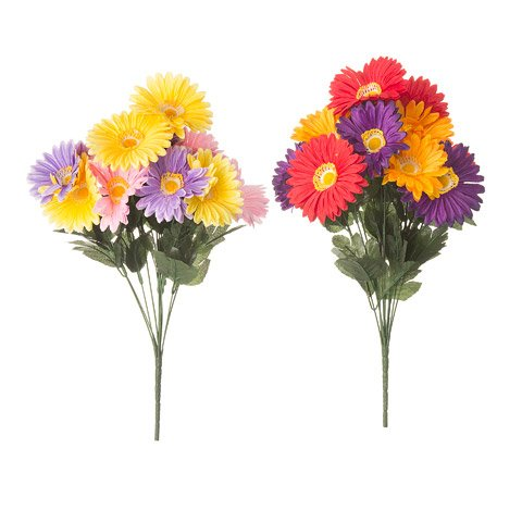 Better Crafts SPRING BUSH GERBERA DAISY LAVENDER YELLOW 18 INCHES (12 pack) (0DC-65210) by Better crafts