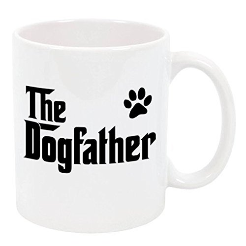 The Dogfather Tea Coffee Ceramic Mugs (White, 11 oz.) for sale  Delivered anywhere in USA