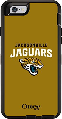 OtterBox Defender Case for Apple iPhone 6 - Retail Packaging - NFL Jaguars (Black Jacksonville Jaguars NFL - Iphone Case Otterbox Sports 6