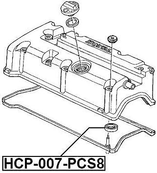 Seal Ring Spark Plug Tube Pcs 8 Febest HCP-007-PCS8 Oem 12342-PCX-004