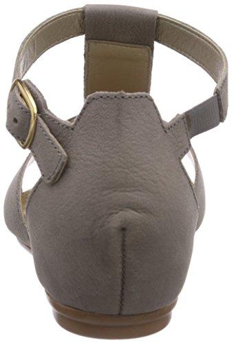 Rieker V1759 - sandalias abiertas de cuero mujer gris - Grau (dust/grau / 42)