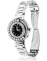 Matashi Crystals 18K White Gold Plated Womens Watch Surrounded by Swiveling Crystals; 3ATM Water Resistant with...