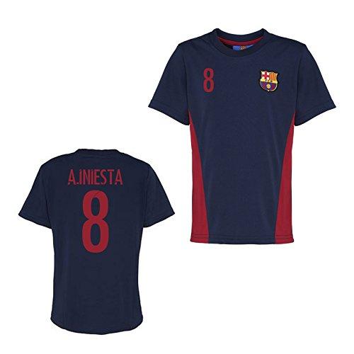 Official Barcelona Training T-Shirt (Navy) B01LGQT9NA XL Adults|A.Iniesta 8 A.Iniesta 8 XL Adults