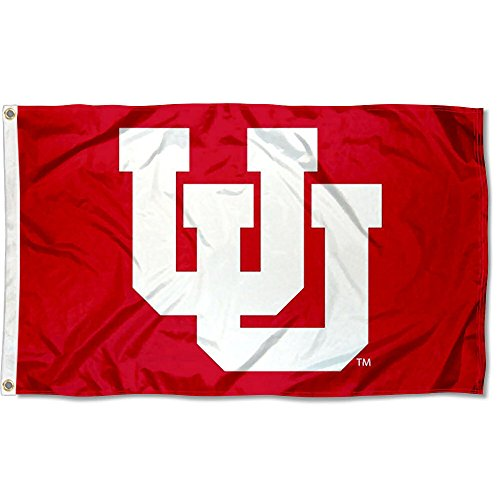 (College Flags and Banners Co. Utah Utes Throwback Logo Flag)