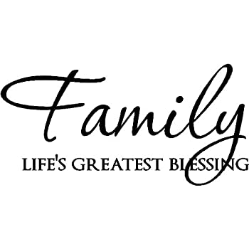 Amazon Epic Designs Family Life's Greatest Blessing Vinyl Wall Stunning Lifes Great Quotes
