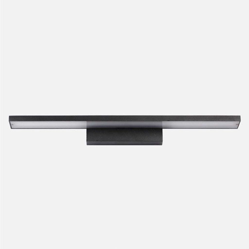 JJJJD Badezimmer-Badezimmer-Spiegel beleuchtet LED-Verfassungs-Lichter, Aluminium + Acryl + Hardware, Sand-Schwarzes (Farbe   Warmes weißes Licht-40CM 8W)