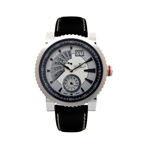 Gallucci Men's WT23320RE/SSL-SK Swiss Retrograde Quartz Stainless Steel Watch with Black Band
