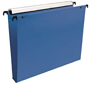 Esselte Group Premium - Carpetas colgantes (10 unidades), color azul, lomo 30mm
